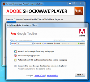 Adobe Shockwaven asennus